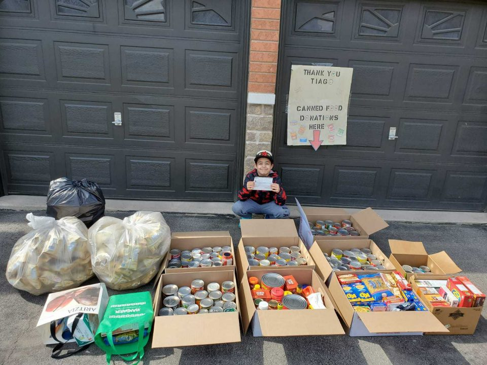 Ontario boy does on a charity mission