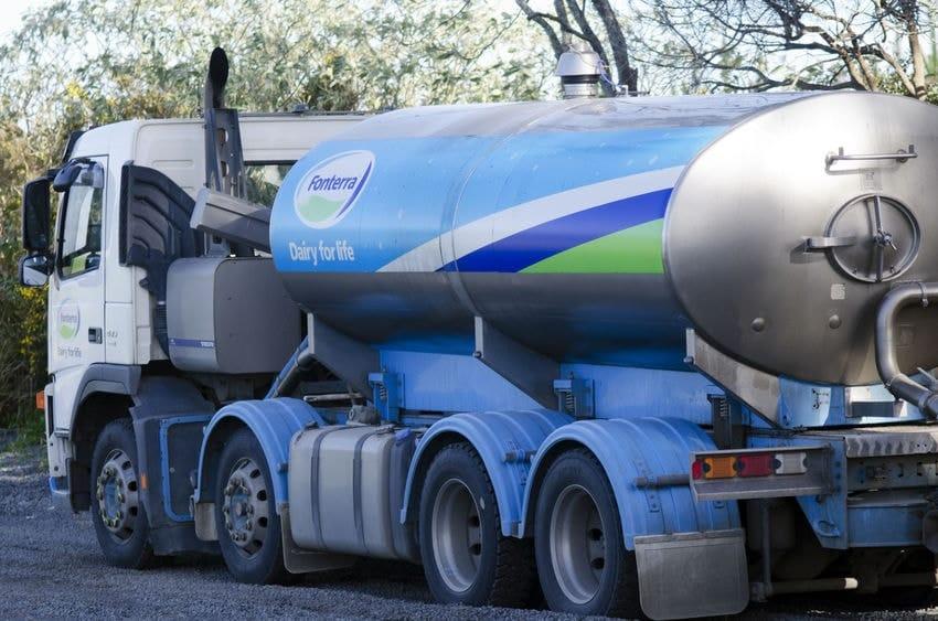 Fonterra milk tanker